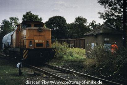 am Einfahrsignal Pirna, vor dem Bahnübergang über die B172