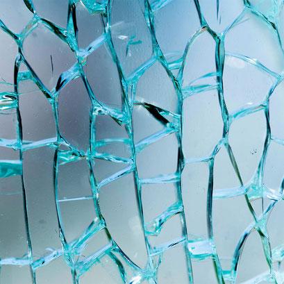 blaues Crashglas