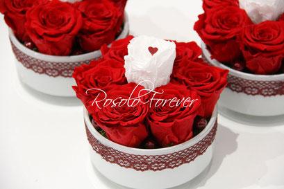 ROSOLO FOREVER: le rouge et le blanc, une belle harmonie éternelle, 2 tailles