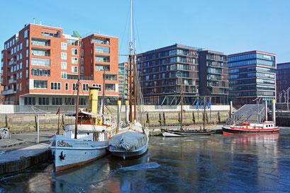 Im Winter im Traditionsschiffhafen