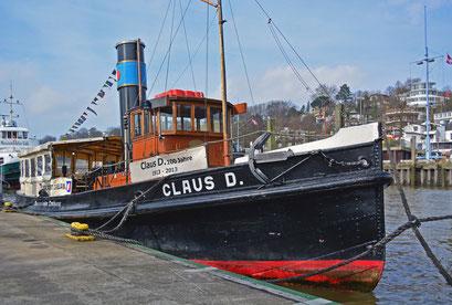 CLAUS D. im Museumshafen Hamburg/Övelgönne
