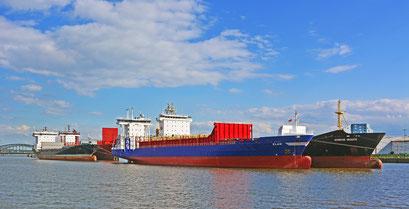 Im Baakenhafen im Juli 2014