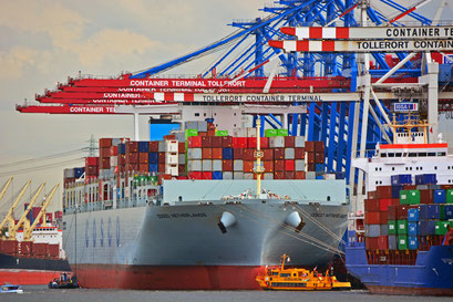 COSCO NETHERLANDS am CONTAINER TERMINAL TOLLERORT