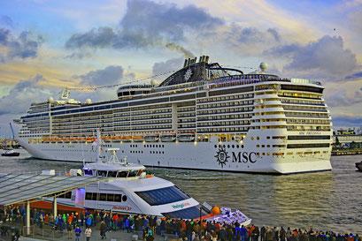 MSC PREZIOSA zu den Hamburg Cruise Days 2017