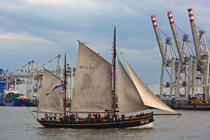 LANDRATH KÜSTER HF 231 zur Parade Hamburger Traditionsschiffe am 23.08.2014