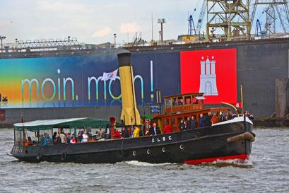 Dampfeisbrecher ELBE zur Parade Hamburger Traditionsschiffe am 23.08.2014
