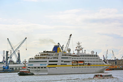 MS HAMBURG am HCC HafenCity am 25.08.2014