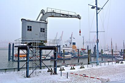 Im Museumshafen Övelgönne im Januar 2016