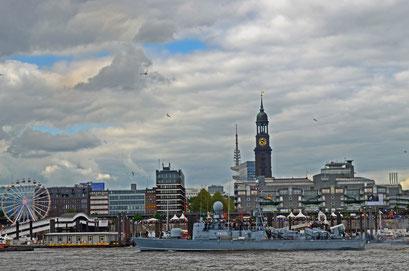 """P 6125 """"Frettchen"""" (Schnellboot/Deutschland) zum Hamburger Hafengeburtstag 2012"""