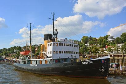 Dampfeisbrecher STETTIN im Museumshafen Hamburg/Övelgönne