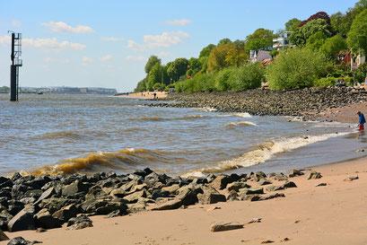 An der Elbe am Elbstrand Övelgönne