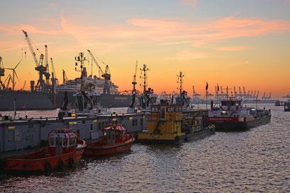 Blick vom Fischmarkt zum DOCK 11