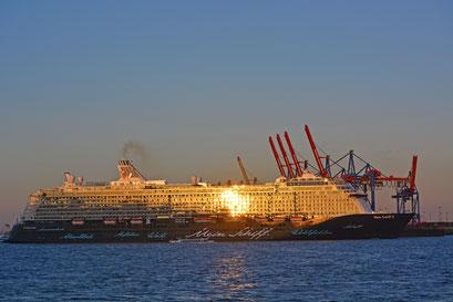 Mein Schiff 3 nach der Taufe zur Hafenrundfahrt am 12.06.2014