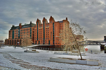 Internationales Maritimes Museum Hamburg im Winter