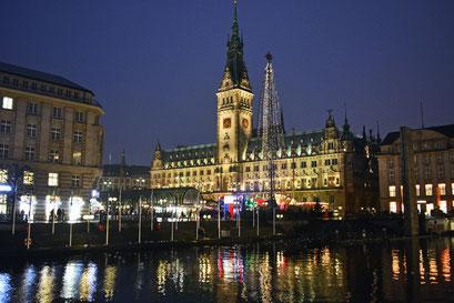 Hamburg in der Vorweihnachtszeit im Dezember 2013
