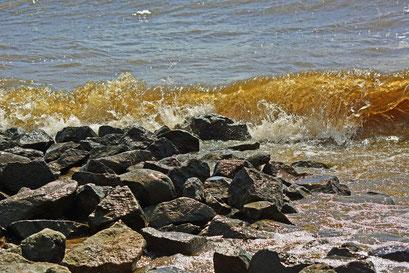 Wie am Meer...Elbe in Höhe Elbstrand Övelgönne