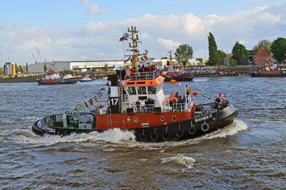 BUGSIER 17 beim Schlepperballett zum Hamburger Hafengeburtstag 2012