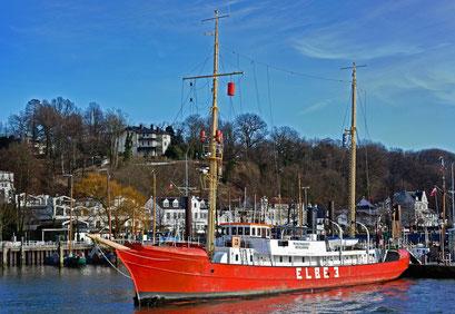 Feuerschiff ELBE 3 im Museumshafen Hamburg/Övelgönne im März 2014