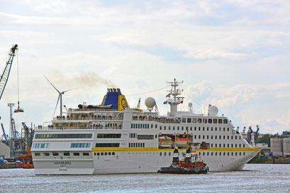 MS HAMBURG am HCC HafenCity am 25.08.2014