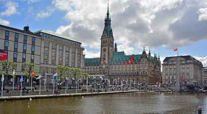Hamburger Rathaus/Alsterarkaden