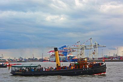 Dampteisbrecher ELBE zur Parade Hamburger Traditionsschiffe am 23.08.2014