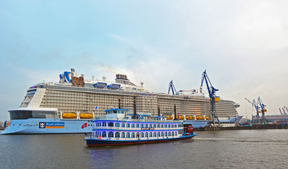 ANTHEM OF THE SEAS beim Eindocken in DOCK ELBE 17 am 23.03.2015