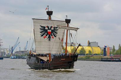 LISA VON LÜBECK zum 828.Hamburger Hafengeburtstag