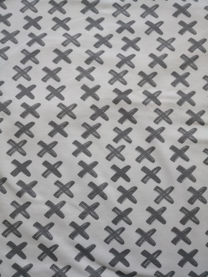 Criss Cross grau/weiss - Sommersweat