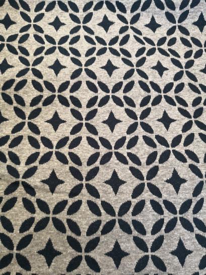 Muster marine/grau - Jacquard