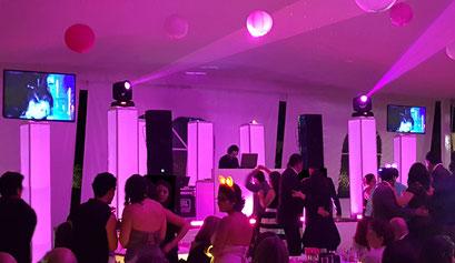 dj para fiestas montaje Premiere en tonos Rosas