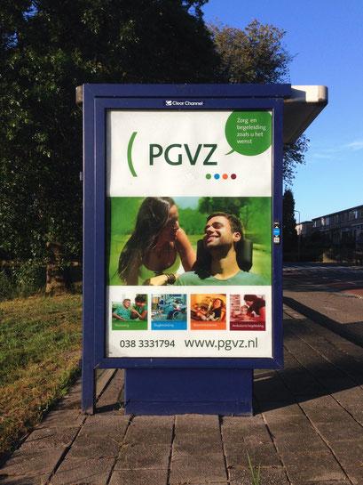 Abri poster voor zorgaanbieder PGVZ