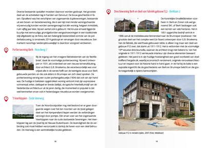 Spread in boekje met cultuurhistorische wandelroute door Brunnepe, Kampen