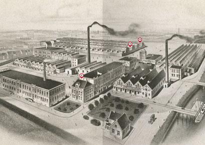 Spread met de BK pannenfabriek in boekje met cultuurhistorische wandelroute door Brunnepe, Kampen