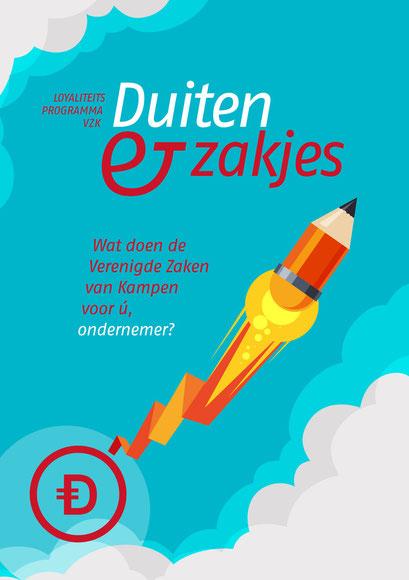 Flyer loyaliteitsprogramma 'Duiten & Zakjes'