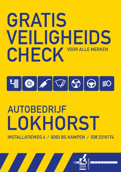 Autobedrijf Lokhorst, voorkant promotieflyer