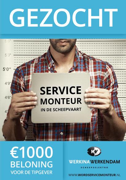 Wervingsactie servicemonteur