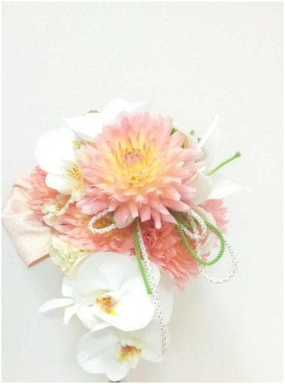 【bo#33】ダリアと胡蝶蘭のブーケ