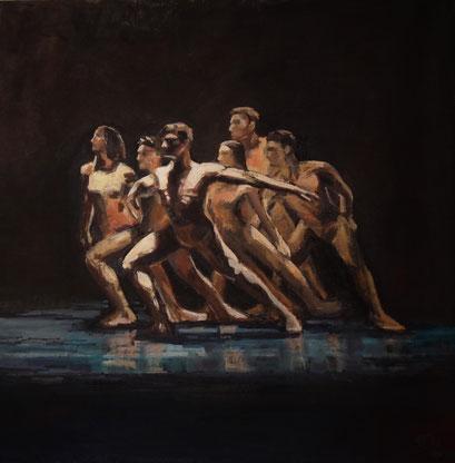 Dancers  Nr.2 Öl_lwd.80x80cm
