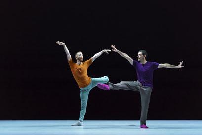 A Quiet Evening of Dance - by William Forsythe, Sadler's Wells Theatre, London, dancers: Riley Watts, Ander Zabala (Seventeen Twentyone); photo: Bill Cooper