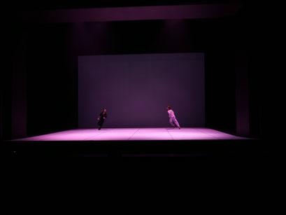 Oscillation - by Iván Pérez; dancers: Marc Galves, Arno Brys; photo: Peer Rudolph