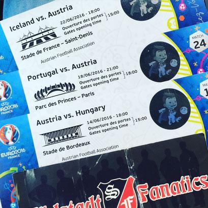 Tickets und Sticker - witzigerweise fast ein Anagramm