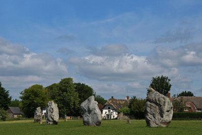 Avebury - das ganze Dorf und der Steinkreis in ein UNESCO-Welterbe