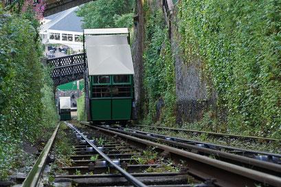 Lynmouth-Lynton - die CliffRailway wird seit über 100 Jahren mit Wasserkraft betrieben