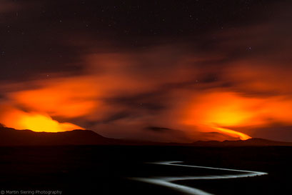 Lavaschein des Bembow und Marum, Insel Ambrym, Vanuatu/Lava glow of Bembow and Marum, Ambrym Island, Vanuatu © martinsieringphotography