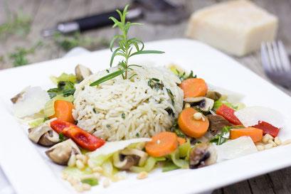 Reis, Gemüse, Kräuter