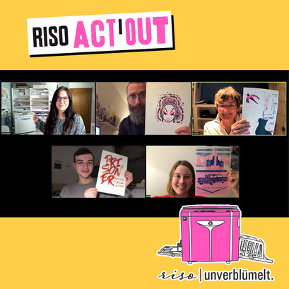 Riso-Actout, Riso-Workshop, Online-Workshop