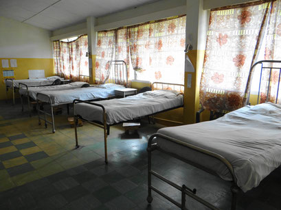 Beds of the clinic