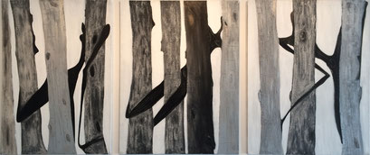 Love the Forest, acrilico s/lienzo, 116x81, 116x89, 116x81 cm, 2005