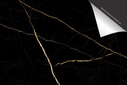 Marmer Zwart Goud Inductie Beschermer