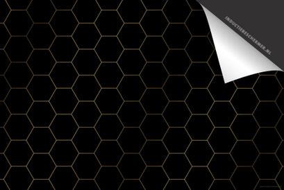 Hexagon Goud Inductie Beschermer